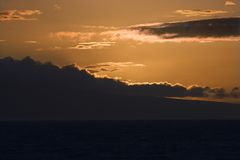 Sunset in Maui, Hawaii. Royalty Free Stock Images