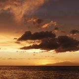 Sunset in Maui Hawaii Stock Image