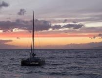 Sunset at Maui, Hawaii Stock Photos