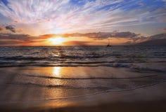 Sunset at Maui, Hawaii Royalty Free Stock Photos