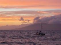 Sunset at Maui, Hawaii Royalty Free Stock Photography