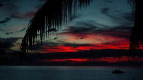 Sunset in Maui. 4K UHD stock video footage