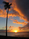 Sunset Maui Style. Maui Hawaii stock image