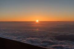 Sunset on Maui viewed from the top of Haleakala Stock Photo