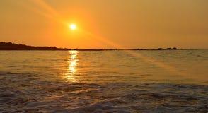 Sunset at Mauna Kea beach Big Island of Hawaii. Beautiful sunset at Mauna Kea beach Big Island of Hawaii Stock Image