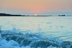 Sunset at Mauna Kea beach Big Island of Hawaii Stock Photography