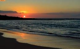 Sunset at Mauna Kea beach Big Island of Hawaii Royalty Free Stock Photos
