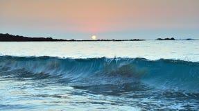 Sunset at Mauna Kea beach Big Island of Hawaii Royalty Free Stock Image