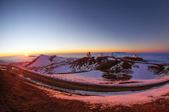 Sunset on Mauna Kea Royalty Free Stock Image