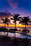 Sunset in Mauritius royalty free stock image
