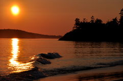 Sunset at Mckenzie Beach,Tofino,B.C. Stock Photo