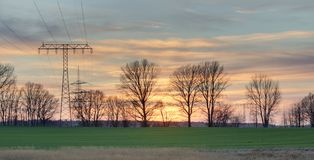 Sunset In Mecklenburg-Vorpommern royalty free stock photography