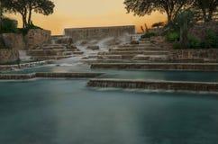 Sunset Meditation pond stock photos