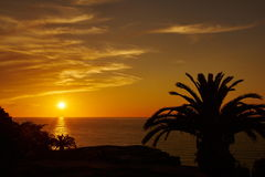 Sunset on the mediterranean Royalty Free Stock Photography