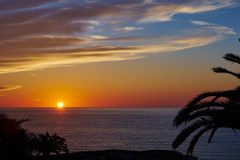 Sunset on the mediterranean Royalty Free Stock Photos