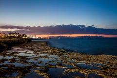 Sunset on the Mediterranean coast Royalty Free Stock Photo