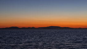 Sunset in the Mediterranean Royalty Free Stock Photo