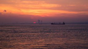 Sunset on the Mediterranean Royalty Free Stock Photos