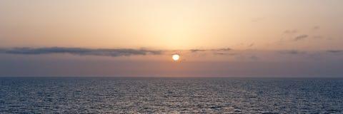 Sunset on the Mediterranean. Panoramic sunset on the Mediterranean sea Stock Photos