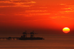 Sunset on Mediterranean Sea. Stock Photos