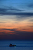 Sunset on Mediterranean Sea. Royalty Free Stock Photos
