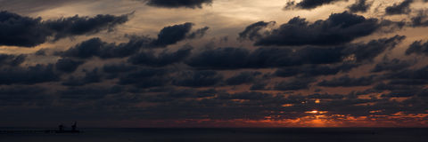 Sunset on Mediterranean sea #2. Stock Photo