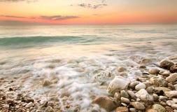 Sunset on the Mediterranean Sea. Lebanon Stock Photos