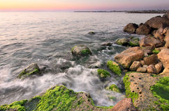 Sunset on the Mediterranean Sea. Lebanon Royalty Free Stock Photos