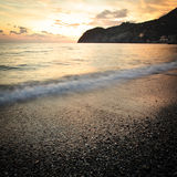 Sunset on mediterranean sea Royalty Free Stock Photos