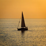 Sunset on mediterranean sea Stock Image