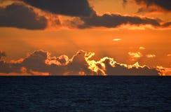 Sunset in the Mediterranean Stock Photo