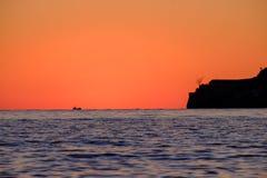 Sunset on the Mediterranean Sea Stock Photos