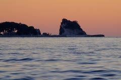 Sunset on the Mediterranean Sea Stock Photo