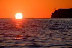 Sunset on the Mediterranean Sea Stock Image