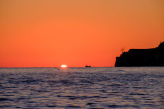 Sunset on the Mediterranean Sea Stock Images