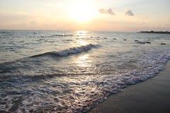 Sunset on the Mediterranean sea Royalty Free Stock Photos