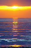 Sunset by the Mediterranean sea Royalty Free Stock Images