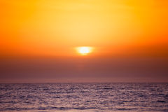 Sunset on the mediterranean sea Royalty Free Stock Image