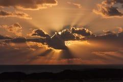 Sunset at the Mediterranean sea Stock Image