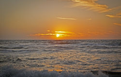 Sunset on the Mediterranean Sea. (Tuscany stock photography