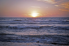 Sunset on the Mediterranean Sea 2. Sunset on the Mediterranean Sea (Tuscany) 2 Stock Images