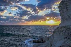 Sunset on the Mediterranean Sea Royalty Free Stock Photo