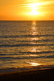 Sunset in the Mediterranean Royalty Free Stock Images