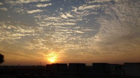 Sunset. Meerut India View Beauty royalty free stock images
