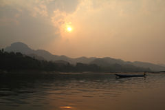 Sunset at Mekong Stock Image