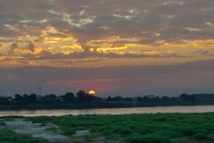 Sunset at the Mekong river. Stock Image