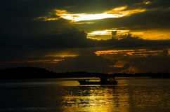 Sunset,  Mentawai Islands, West Sumatra province, Indonesia. Stock Photo