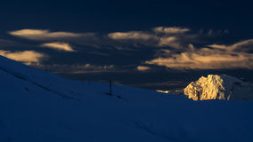 The Sunset of Meri Snow Mountain Royalty Free Stock Images