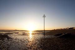 Sunset at mersea island in essex Stock Photos