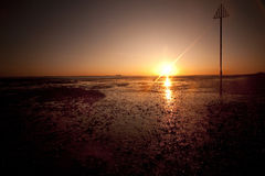 Sunset at mersea island in essex Royalty Free Stock Photo